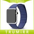 Натуральная Кожа Ремешок Для Часов Магнитный Замок 1:1 в качестве Оригинала для iWatch Apple Watch 38 мм 42 мм Loop Band Ремешок Браслет 6 цвета