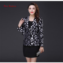 Fairy Dreams Women Blazers Grey Golden Coat Jacket 2017 Hot Sale New Style Autumn Winter Plus