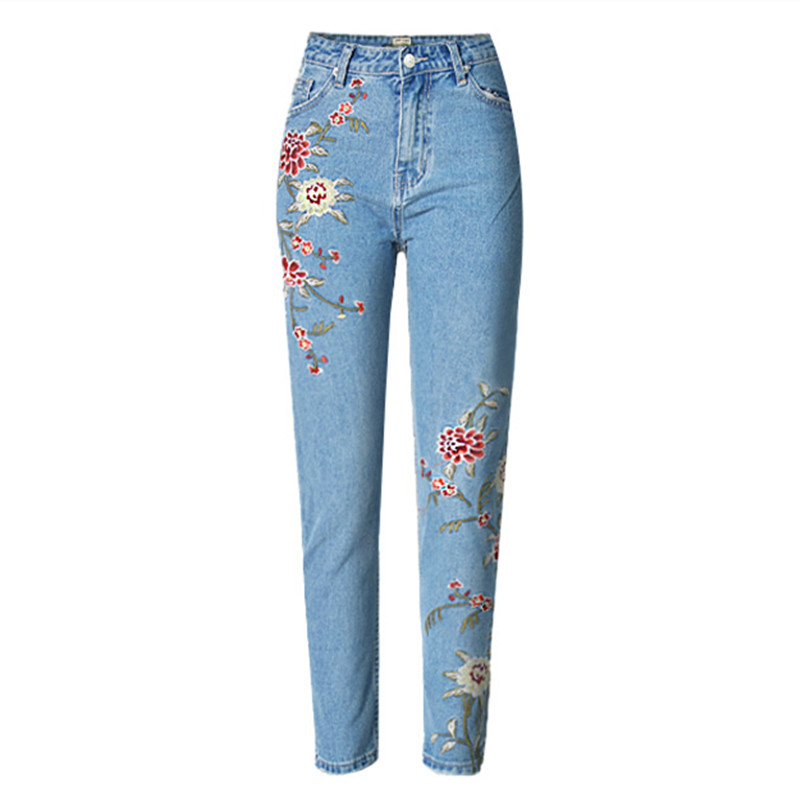 embroidery jeans american apparel pant highwaist skinny. Black Bedroom Furniture Sets. Home Design Ideas