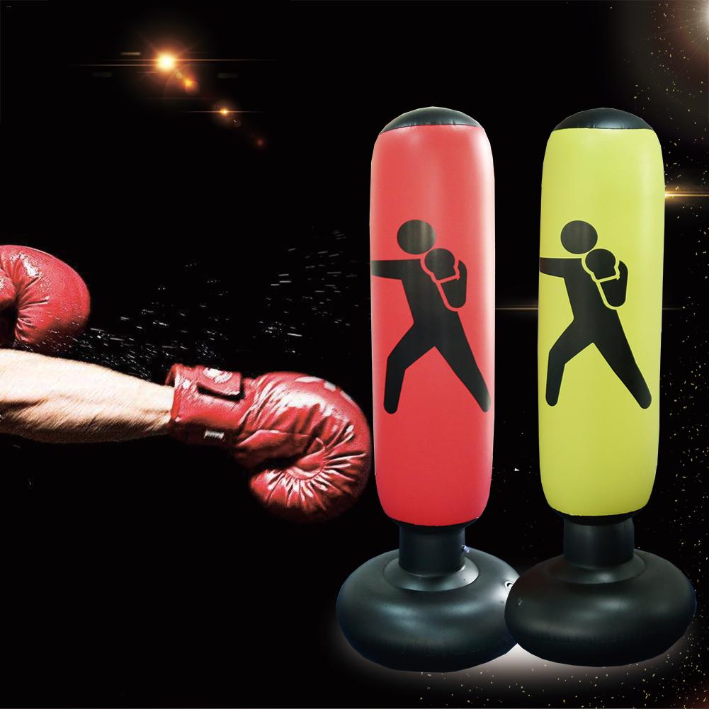 160cm Boxing Punching Bag Inflatable Free Stand Tumbler Muay Thai Training Pressure Relief Bounce Back Sandbag With Air Pump