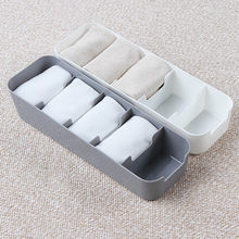 5 Grid Plastic Storage Box Bedroom WardrobeTie Bra Socks Drawer Desktop Cosmetic Makeup Divider Case Kitchen condiment Boxes(China)