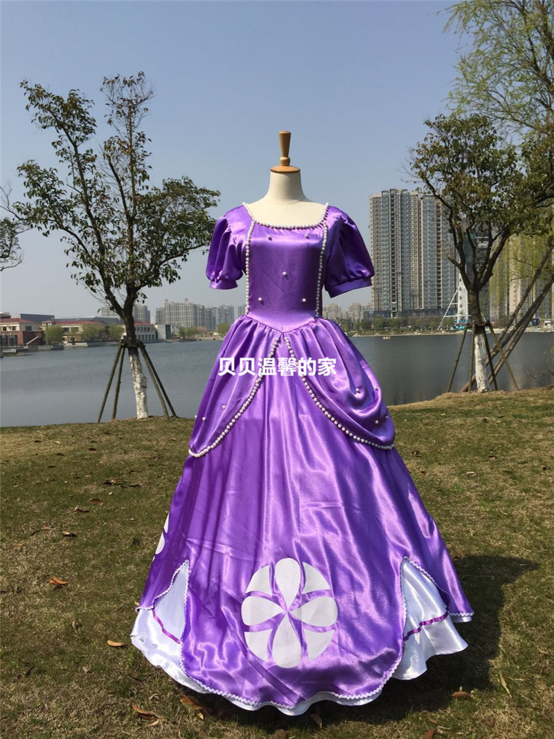 ᐂ2016princess sofia the first sophia dress cosplay costume luxury
