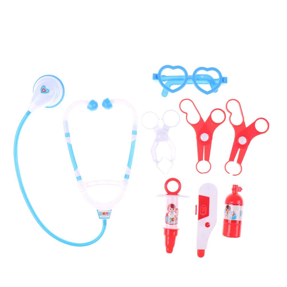 Toyzhijia Rumah Bayi Medis Dokter Roleplay Simulasi Set Hadiah Imitasi Mainan Stetoskop Suntikan Anak-anak Berpura-pura Dokter