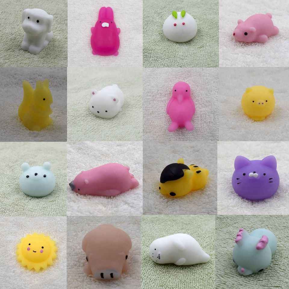 Cute Animals Squishy Anti-Stress Tricks Toy For Children Elephant Penguin Panda Bear Doll Squishi Kawaii Novelty Birthday Gifts
