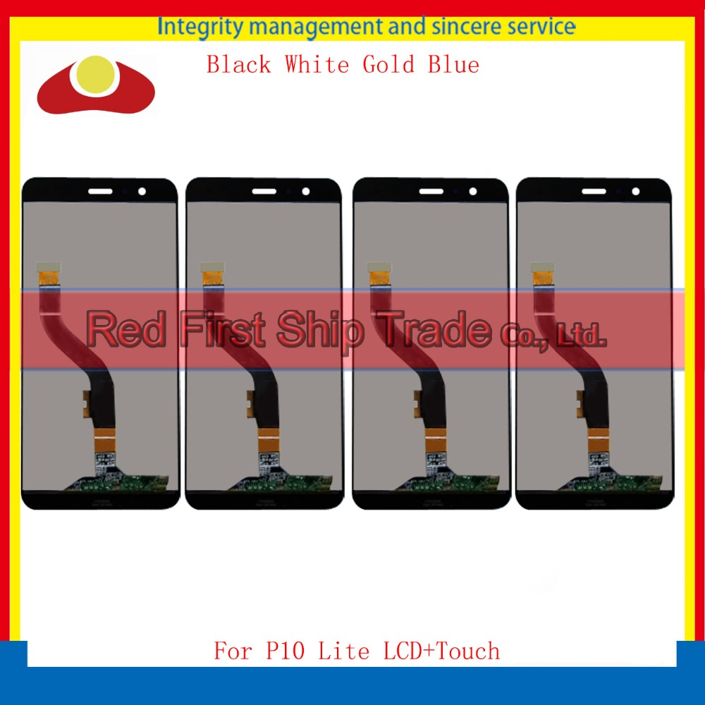 Подробнее о 10Pcs/lot DHL 5.2 For Huawei P10 Lite Full Lcd Display Touch Screen Digitizer Sensor Assembly Complete Black White Gold Blue free dhl 5pcs high quality lcd display digitizer touch screen glass assembly for huawei p9 lite g9 black white gold with frame