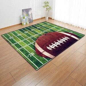 Image 4 - Alfombra con estampado 3D para niños alfombra con estampado 3D para baloncesto, sala de estar, juegos de fútbol, regalo de cumpleaños