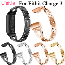 Aluminium Alloy strap For Fitbit Charge 3 frontier/classic wrist smart watch wristband accessories
