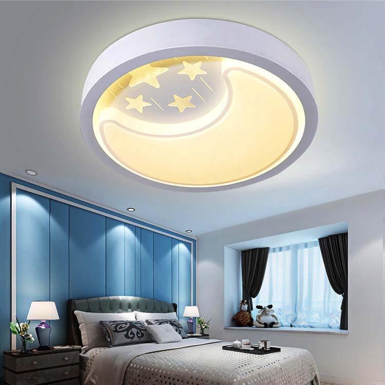 Moon Lights Bedroom: Star Moon Led Ceiling Light For Bedroom Warm Romantic