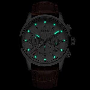 Image 5 - LIGE 2019 New Watch Men Fashion Sport Quartz Clock Mens Watches Brand Luxury Leather Business Waterproof Watch Relogio Masculino
