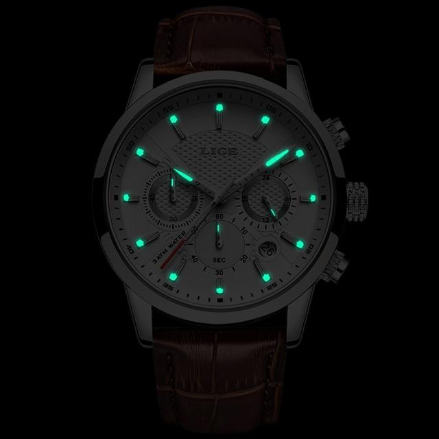 LIGE 2019 New Watch Men Fashion Sport Quartz  5