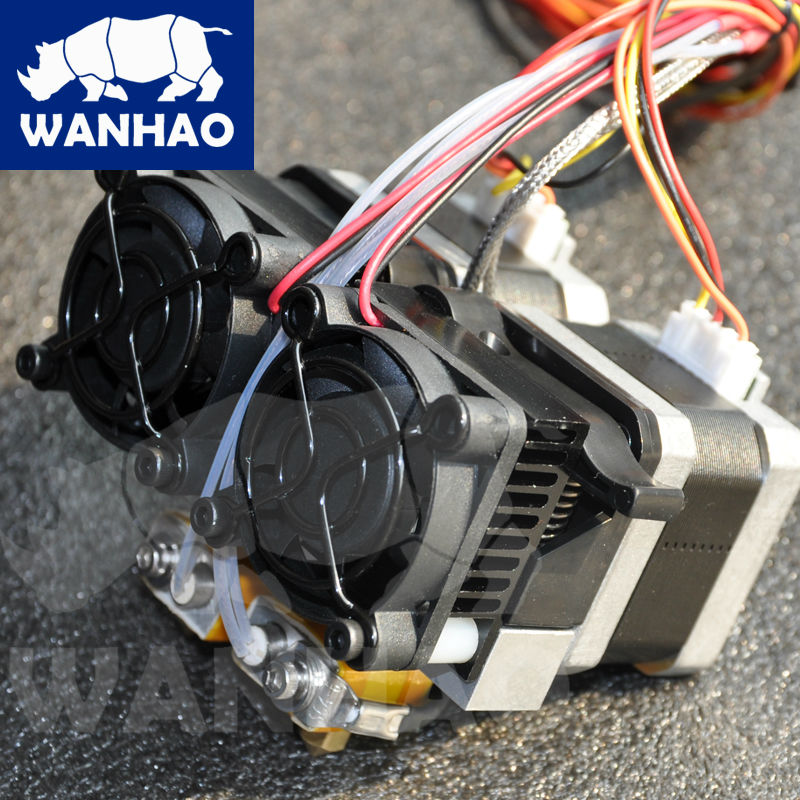 wanhao extruder with two nozzles MK10 extruder for duplicator 4, 4X, 4S аллиум цепа 6 в москве
