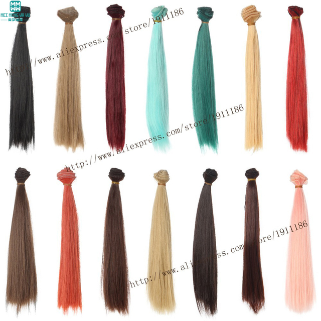 1pcs 25cm*100cm  Many colors Straight wigs Hair for dolls 1/3 1/4 BJD/SD Accessories for dolls