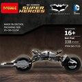 Película de superhéroes de DC comics Batman The Dark Knight Batmobile legoeinglys Bat-pod Motocicleta bloque de construcción modelo compatible. juguete
