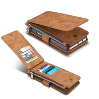 Note 5 14 Cards Holder Wallet Case For Samsung Galaxy Note 5 Multi Functional Genuine Leather