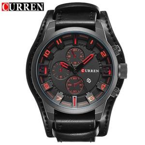 Image 2 - Top Brand Luxury Quartz Watch Men Sports Watches Military Army Male Wrist Watch Clock CURREN relogio masculino 8225
