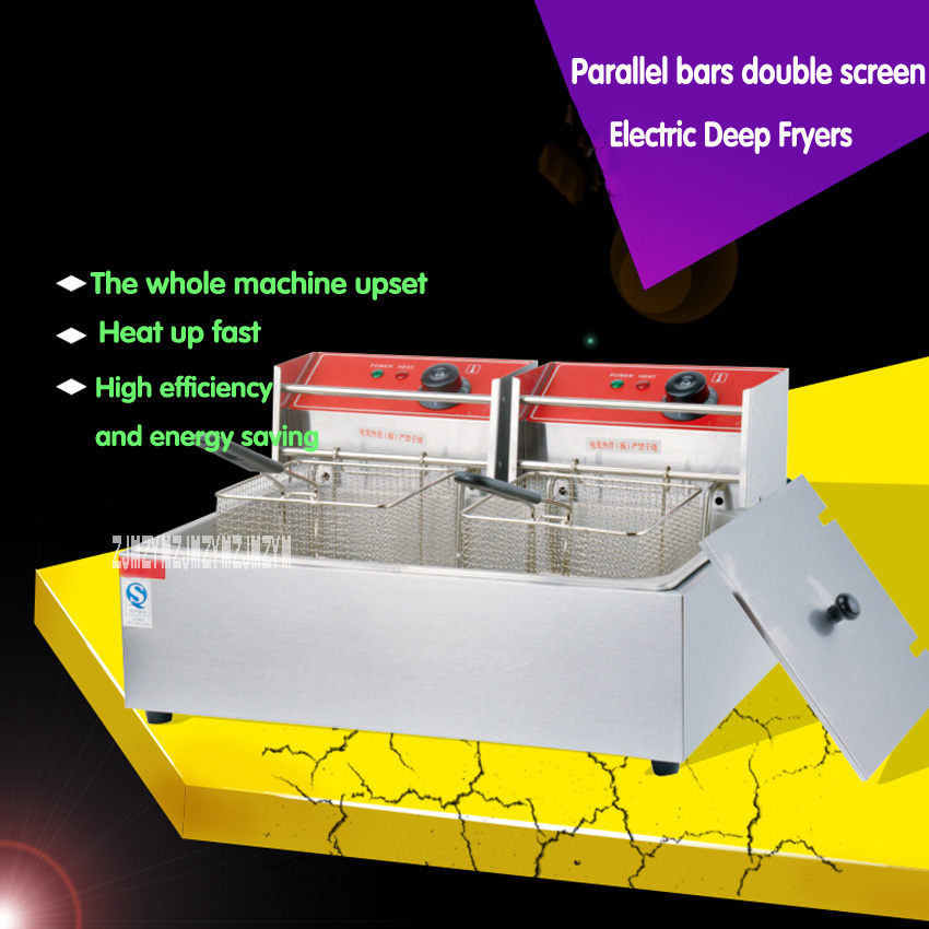 1PC Electric stainless steel high power fast heating deep fryers for  commercial  French fries , Fried chicken ect.1PC Electric stainless steel high power fast heating deep fryers for  commercial  French fries , Fried chicken ect.