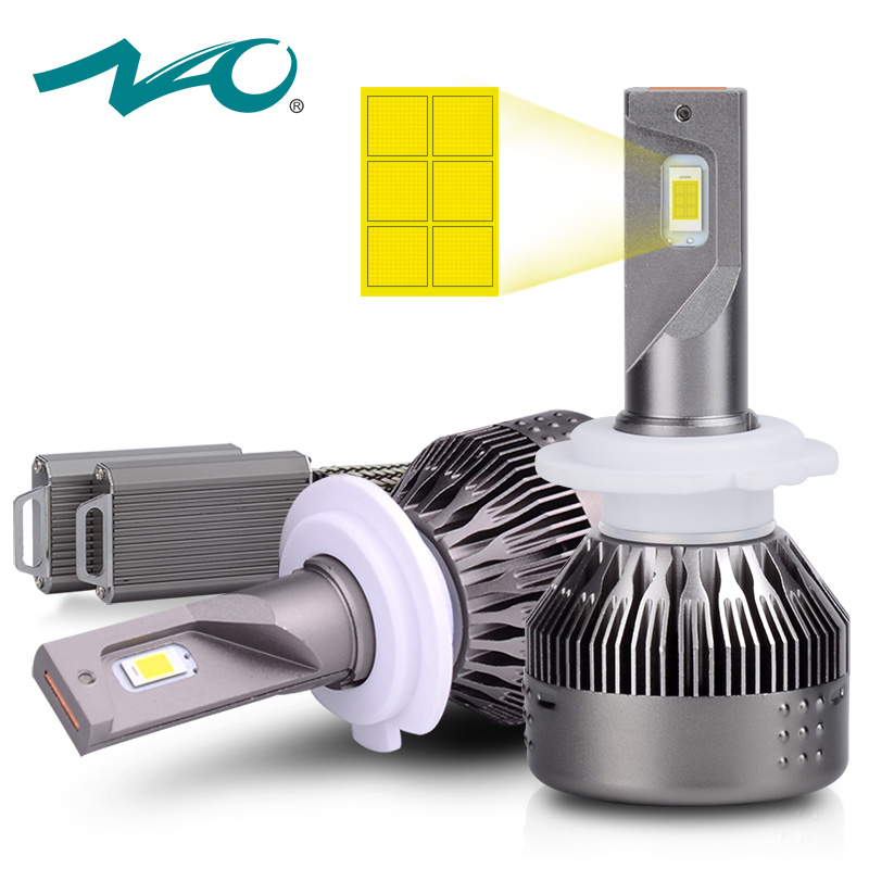 NAO H7 led 12V led h7 healight automobiles lamp h7 led bulb 6500K 72W 9000LM White car fog light Super bright auto headlamp 530E new super bright h7 5630 smd 33 led 12v white auto car fog driving light lamp bulb car accessories