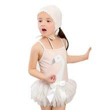 Цельнокроеный купальный костюм для девочек детский купальник