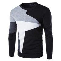 ZOGAA Мужской пуловер, свитер, 2019, Мужской Повседневный свитер с длинным рукавом подходящего цвета, большой размер 4XL, дизайнерский свитер