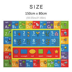 Image 5 - Baby Play Mat Letter Number Children Game Rug Kids Toys Anti slip Soft Plush Carpet Puzzle Learning Gym Flannel Playmat