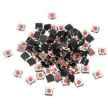 100 шт./лот 6*6*3 мм 5 PIN SMD красная медь Тактильный кнопочный переключатель такт переключатель 6 мм* 6 мм* 3 мм