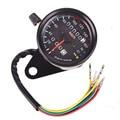 2016 New Motorcycle Dual Odometer Speedometer Gauge LED Backlight Signal Light Universal Digital Speedometer