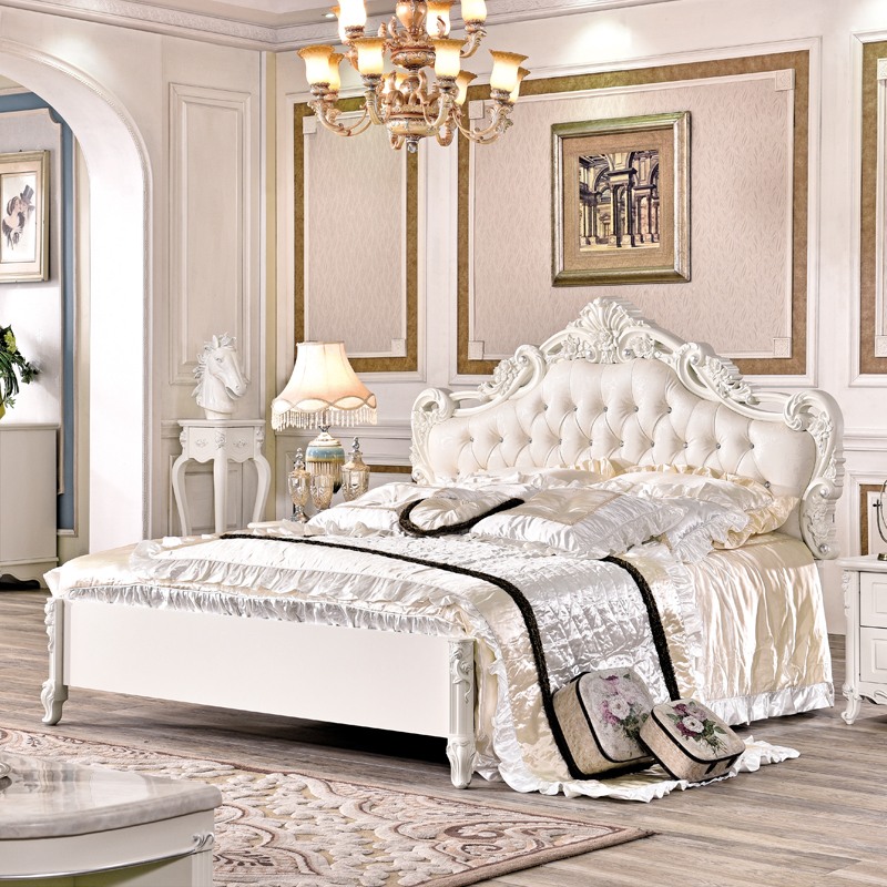 American style bedroom furniture king bed Bedroom Sets  - AliExpress