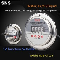 YZ S90 Stainless Steel Pressure Switch Controller Intelligent Digital Display Vacuum Electric Contact Pressure Gauge