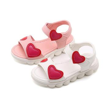 KKABBYII الصنادل الفتيات الأبيض الأطفال أحذية الصيف صنادل أطفال للبنات بولي Leather الزهور الجلدية الأميرة أحذية الفتيات الصنادل
