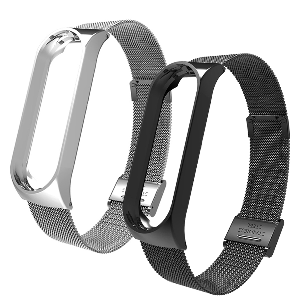 Image 5 - Metal Strap bracelet for Xiaomi Mi Band 4/3 Strap for Xiaomi Mi Band 4/3 Strap Stainless Steel MiBand 4/3 Wrist Band Belt-in Smart Accessories from Consumer Electronics