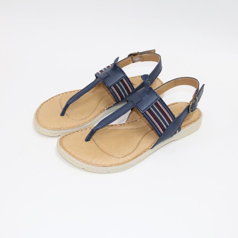 Di Cuoio delle donne SandalsSexy SandalsSexyFlat sandali con la suola di Cuoio per womenNew di Alta Qualità Sandali in Estate-in Scarpe con tacco basso da Scarpe su AliExpress - 11.11_Doppio 11Giorno dei single 1