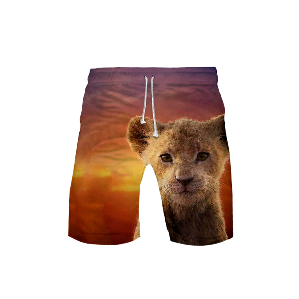 2019 NEW Film Glory Kingdom King The Lion King Simba 3D Summer Men Fashion Trend Shorts Popular Casual Summer Shorts