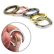 3 шт. 25 мм открывающееся кольцо с металлической пряжкой для рукоделия с отрывными листьями для переплетения книг, шарнирные кольца для брелка, скалолазание, альбом, круглый зажим