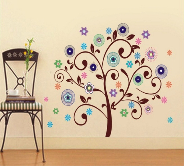 New Creative Abstract Tree Wall Sticker Wall Art Decal Paper Stickers Wall  Decals Vinyl Stickers Home Decor Decorative Stickers Part 71