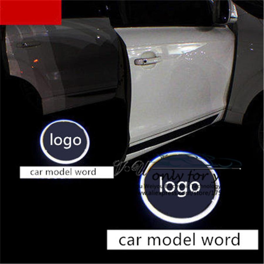 Car LOGO Custom Courtesy Light Specified Door For Mercedes Benz M E B A C GLA W166 W212 W246 W176 W205 X164 Cope E260L 300L
