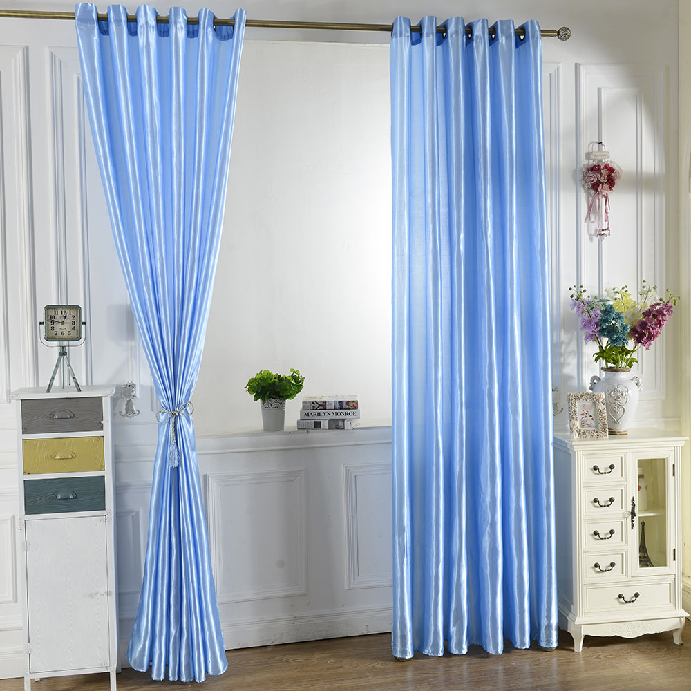 2PCS Jacquard Shade Window Blackout Curtain Fabric Modern Curtains ...