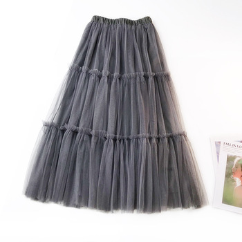 European Style Swing Skirts Fashion Solid Color Wooden Ear High Waist Maxi Skirt Sweet Ruffles Bridesmaid A-Line Skirt Ball Gown sweet style solid color button embellished women s suspender skirt