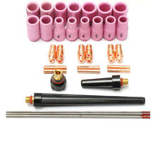 33 pcs TIG Welding Torch Nozzle part Kit for WP-9 WP-20 WP-25 WC20 Tungsten  Pilot Arc Welding Torch Tools gt 2001 torch jewelry welding torch torch for jewelry jewelry making tools 1 pcs set