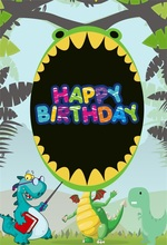 Laeacco Cartoon Jungle Dinosaur Baby Birthday Party Photographic Backdrops Customized Photography Background For Photo Studio парфюмерная вода narciso rodriguez narciso poudree 50 мл женская