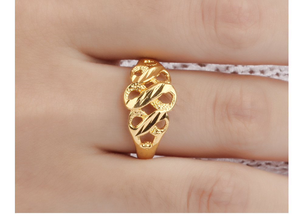 Trendy Women's Infinity Engraved Ring