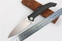 Quality Tactical Folding Knife KESIWO D2 Blade G10 Steel Handle Ball Bearing Flipper Camping Survival Knife