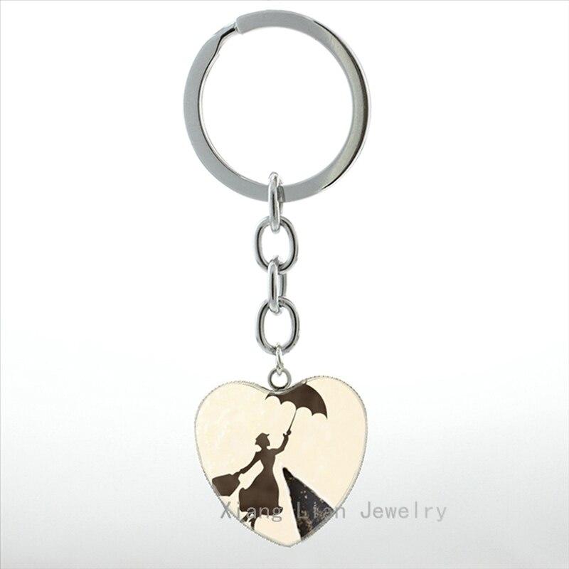 Exquisite Mädchen Cabochon Mode Mary Poppins Schlüsselbund Frauen - Modeschmuck - Foto 6