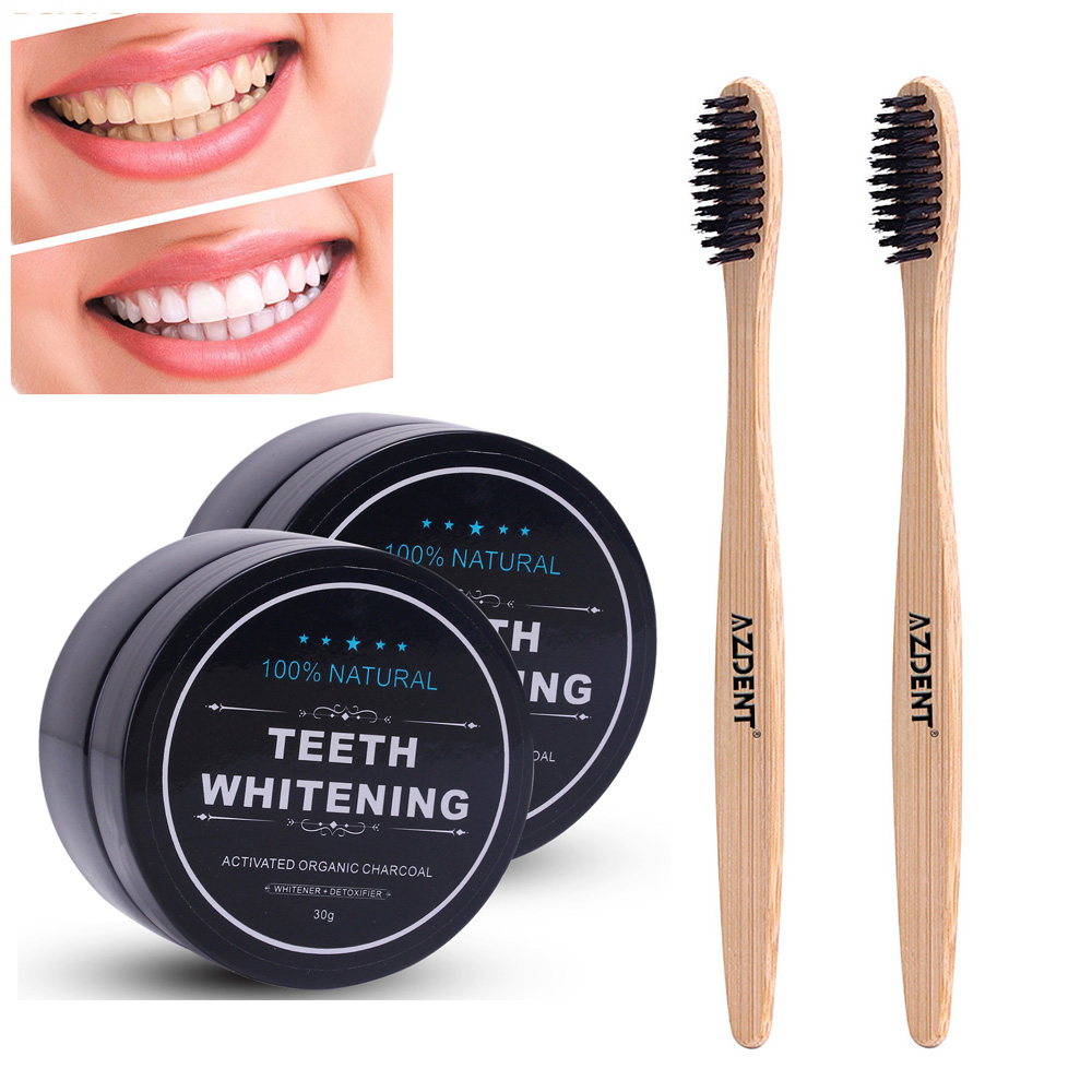 New 30g Activated Charcoals Powder + Bamboo Charcoal Toothbrush Tooth Whitening Powder Set Natural Organic Toothpaste Vegan MintNew 30g Activated Charcoals Powder + Bamboo Charcoal Toothbrush Tooth Whitening Powder Set Natural Organic Toothpaste Vegan Mint