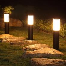 Thrisdar E27 наружная Светодиодная лампа для газона из нержавеющей стали, садовый светильник для патио, лужайка, вилла, парк, двор, ландшафтный светильник