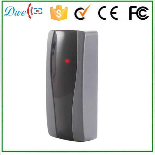 DWE CC RF Free shipping 2017 new 125khz contactless rfid reader waterproof wiegand 26 wiegand 24 for access control system dwe cc rf 13 56 mhz outdoor rfid card reader for access control system wiegand 26 free shipping