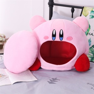 Image 2 - Tronzo 50cm Kirby Plush Soft Sleep Pillow Cap Kawaii Anime Game Kirby Sleep Pillow Cushion Soft Pet House Doll Toys Dropship