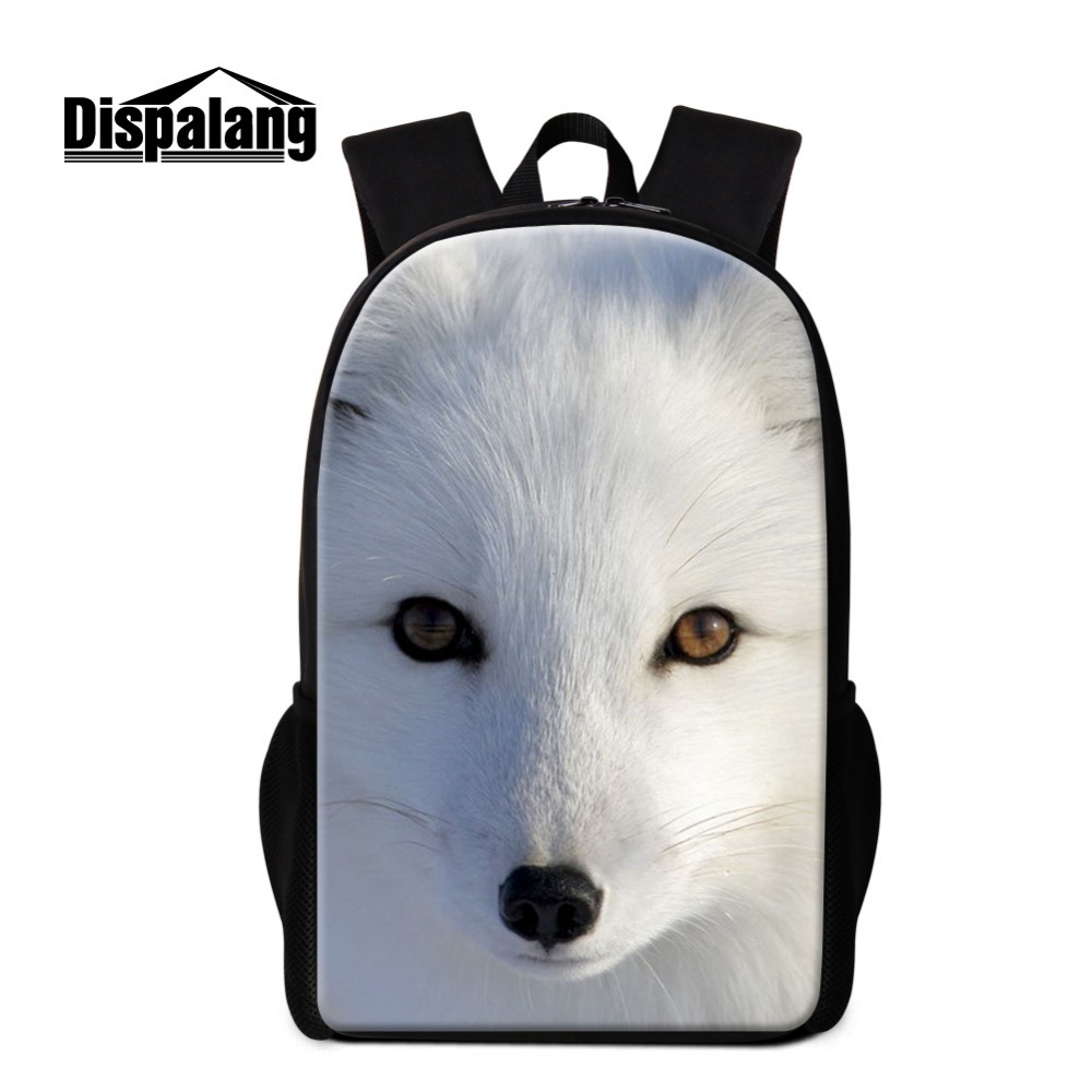 Cool Fox Printed School Backpacks for Children Girls Cute Animal Bookbags Schoolbags Bagpack for Boys Mochilas Coolest Back Pack