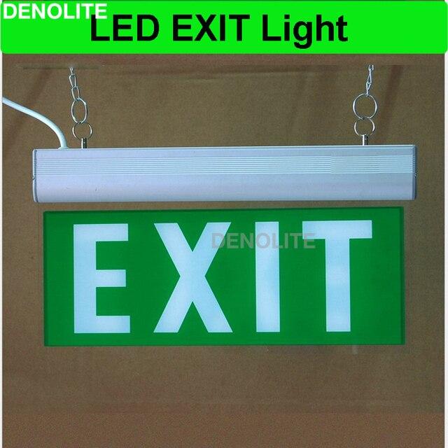 led exit sign lamp oplaadbare noodverlichting met ni cd12v batterij led nooduitgang licht