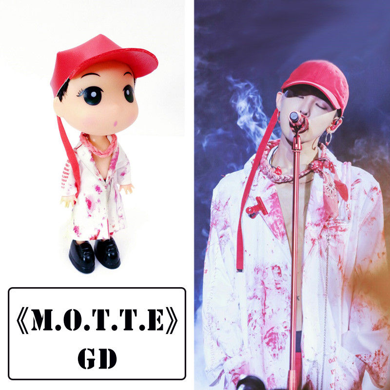 KPOP BIGBANG M.O.T.T.E G-Dragon Doll GD 13cm/5 Figure Model Collection Handmade Gift new kpop bigbang gd gdragon the same gd is back peaceminusone seoul hand bag