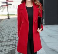 Women's office Large size coat 5XL red Long Jacket Female Coats Blazer Feminino One Button Blue Suit Jackets Office Blazers